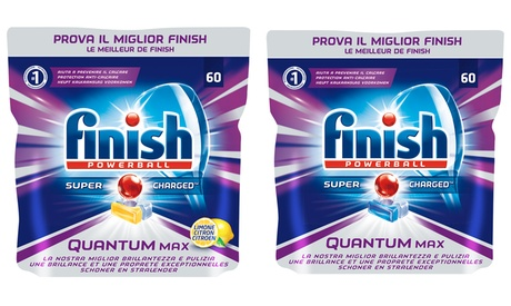 Fino a 180 tabs Finish Quantum Max Regular o Lemon per la...