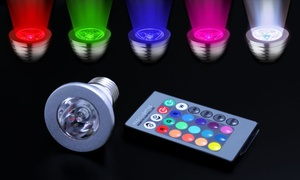 Magic Light 3-Watt LED Color-Changing Light Bulbs with Remote Control