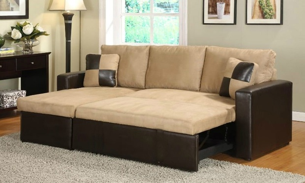 Sectional Sofa Bed With Storage Groupon Goods