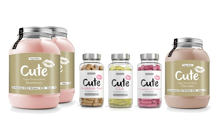 Cute Nutrition Vegan Protein Shake, Summer Bundle or 28Day Teatox