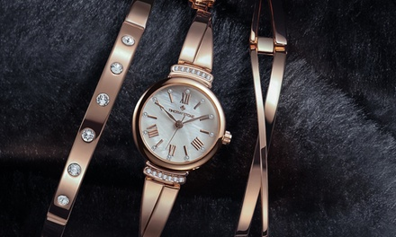 Set montre & bracelet de la marque Timothy Stone ornés de cristaux Swarovski®, livraison offerte