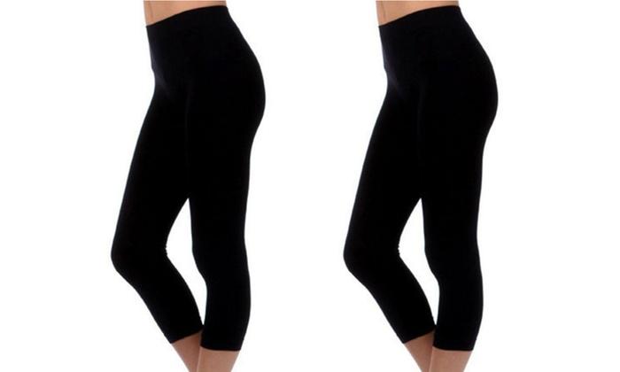 Andrew Scott Women's Cotton-Blend Capri Leggings (2-Pack)