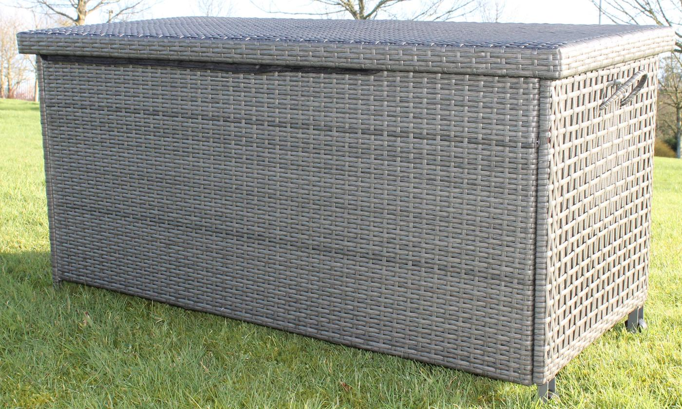PE Rattan Cushion Storage Box With Free Delivery from £94.99