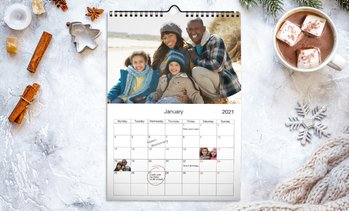 "Up to 89% Off 8.5"" x 11"" Custom Wall Calendar from Printerpix"