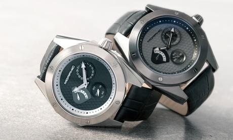 Reloj de cuero Morphic con fecha