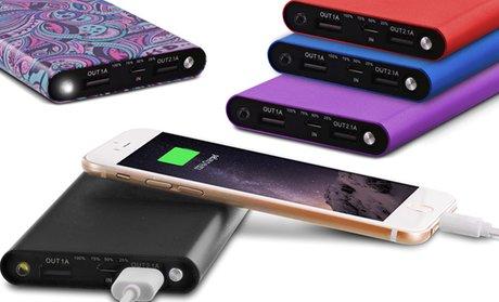 Aduro PowerUp Slim 10,000mAh Dual-USB Backup Battery
