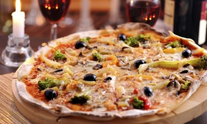 Pavarotti Pizza: Italian Dining with Wine for Two ($29) or Four People ($49) at Pavarotti Pizza, Elsternwick (Up to $136 Value)