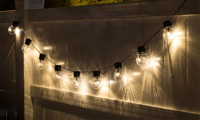 solar powered string light bulbs groupon. Black Bedroom Furniture Sets. Home Design Ideas