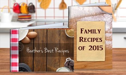 Personalized Hardcover Recipe Book from PhotobookShop (Up to 74% Off)