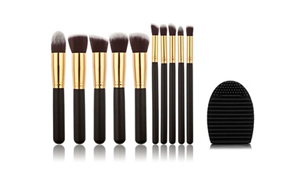 One or Two SMINK TenPiece MakeUp Brush and Cleaning Sponge Sets