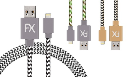 One, Two or Five 1M or 3M Nylon Braided Cables for iPhone