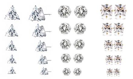 5-, 10- or 15-Piece Crystal Stud Earrings Sets