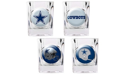 Dallas Cowboys Shot Glasses (4-Pack) at Sports Fanz Shop only