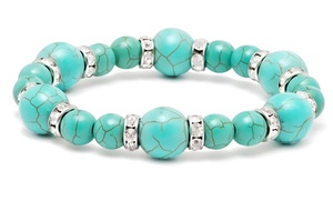 $5 Deal: Turquoise Stretch Bracelet at $5 Deal: Turquoise Stretch Bracelet, plus 6.0% Cash Back from Ebates.