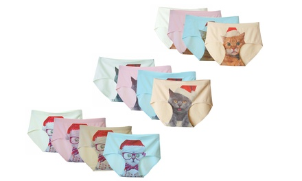Four-Packs Santa Cat Underwear from AED 79