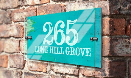 Choice of Personalised House Sign from Fabness (Up to 75% Off)