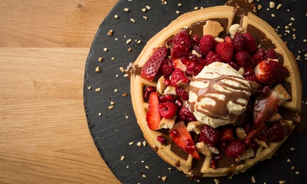 Deep Pan Pizza or Sweet Waffle with Milkshake or Glass of Prosecco for Up to Four at Japes