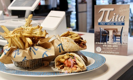 $20 Worth of Fast, Casual Greek Cuisine at Pita (40% Off)