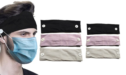 Sports and Yoga Button Headband for Face Mask: One ($9.95) or Two ($13.95)