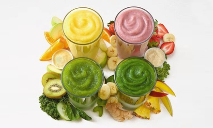 $17 for Five Groupons, Each Good for a Smoothie a Supplement, at Tropical Smoothie Cafe ($31.40 Value)