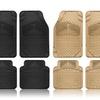 Universal Fit Diamond Plate Heavy-Duty Rubber Car-Floor Mats (4-Piece)