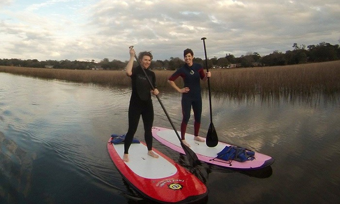 Charleston Paddleboard Co. - Charleston: One-Hour Surf Lesson for One or Two from Charleston Paddleboard Co. (Up to 50% Off)