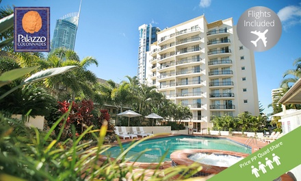 Gold Coast, Surfers Paradise: $499 Per Person Quad Share for 5N with Flights & Wine at Palazzo Colonnades, Queensland