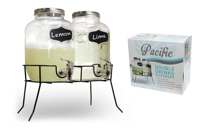 Double glass drinks dispenser groupon for Double glazing deals