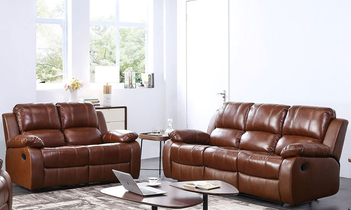 Cool Valencia Leather Recliner Sofa Groupon Goods Ibusinesslaw Wood Chair Design Ideas Ibusinesslaworg