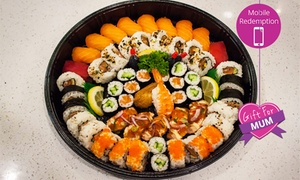 Cafe Delores: $35 for a 55-Piece Sushi Platter from Café Delores, CBD (Up to $70 Value)