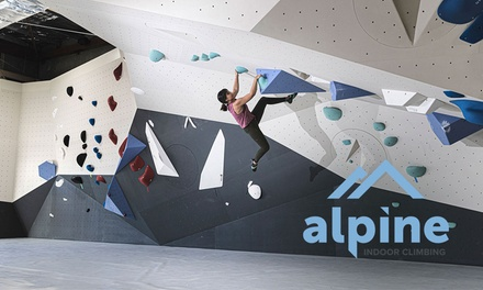 Climbing Casual Visit with Shoe Hire for One $13 or Two People $25 at Alpine Indoor Climbing Up to $51 Value