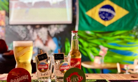 TwoCourse Lunch or Dinner with Drinks for Two at Boteco Do Brasil