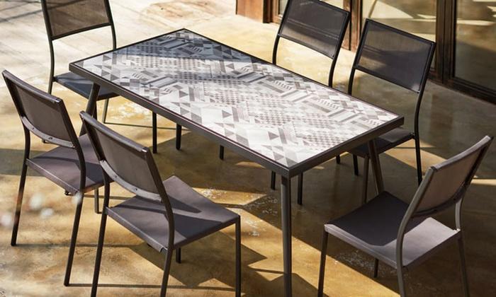 Ensemble table céramique + 6 chaises | Groupon Shopping