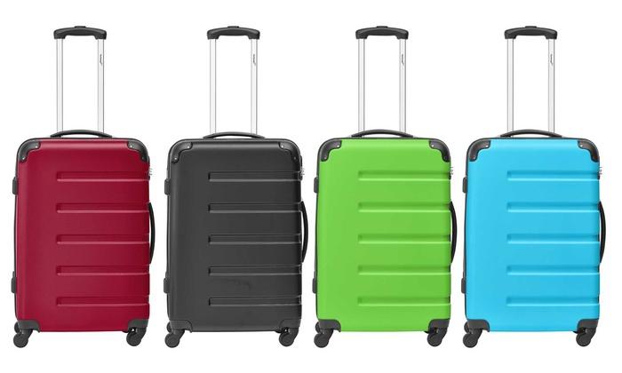jusqu 39 37 valise en abs packenger groupon. Black Bedroom Furniture Sets. Home Design Ideas