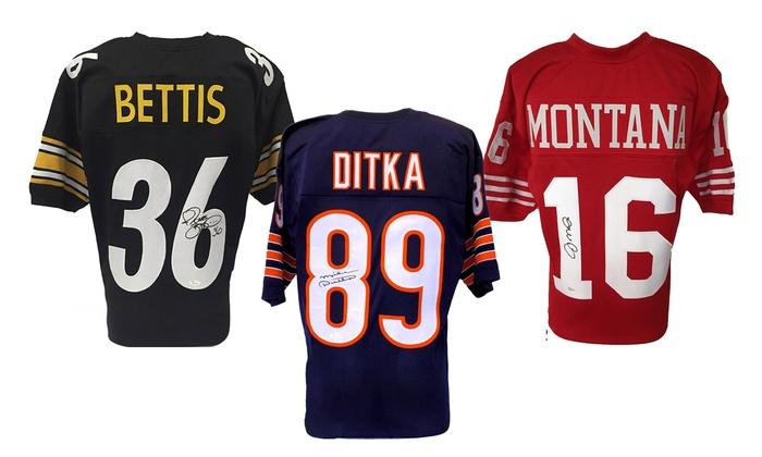 NFL Football Superstars and Legends Autographed Custom Jerseys