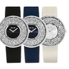 SO & CO New York Women's Crystal-Studded Watch with Leather Strap