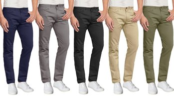 Men's Skinny-Fit 5-Pocket Stretchy Chino Pants (2-Pack)