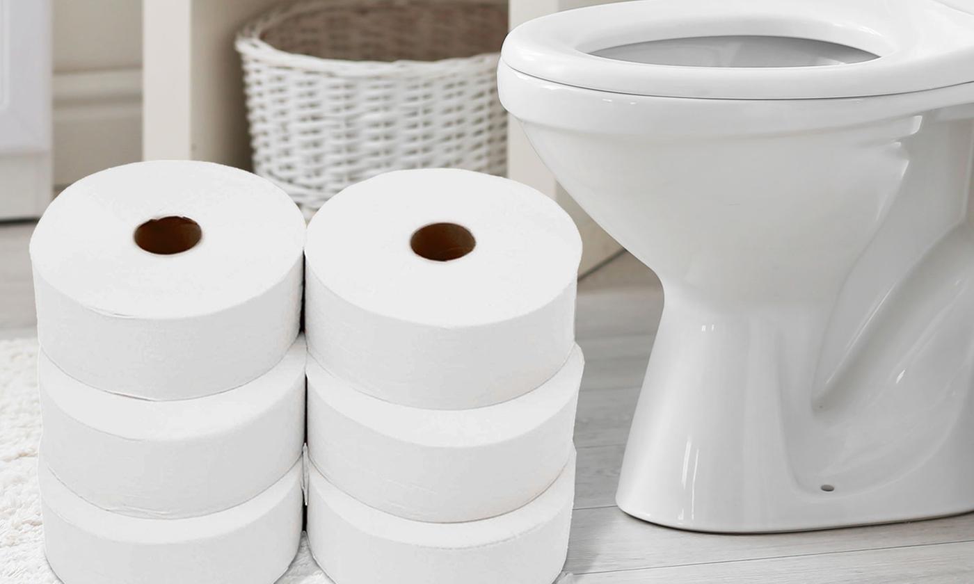12 Cusheen Jumbo Toilet Rolls
