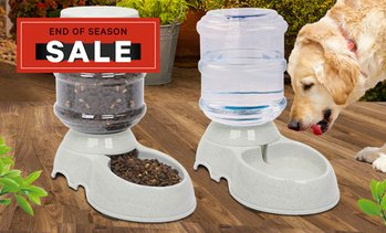 Pet Water Bowl and Food Feeder