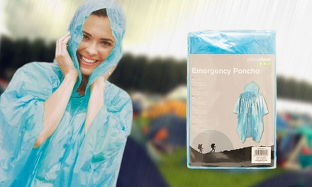 Lightweight Disposable Rain Poncho from £1.99