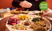 Seven-Course Ethiopian Tasting Experience from R159 for Two at Queen Sheba Ethiopian Restaurant (Up to 55% Off)