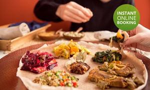 Queen Sheba Ethiopian Restaurant: Seven-Course Ethiopian Tasting Experience from R159 for Two at Queen Sheba Ethiopian Restaurant (Up to 55% Off)