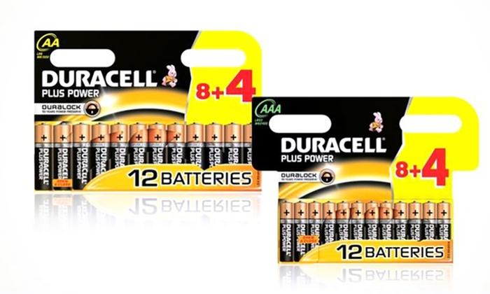 1 pack de 12 ou 24 piles Duracell Plus modèle au choix dès 690 € (jusquà 55% de rduction)