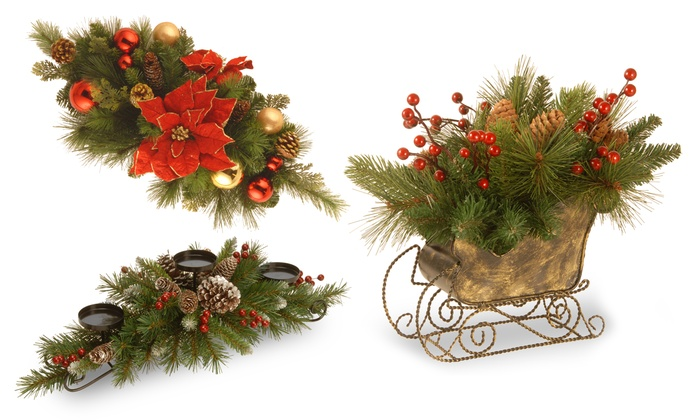 Christmas Greenery Centerpieces.Winter And Christmas Greenery Centerpieces Groupon