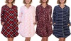 Angelina Women's Button-Down Nightgown Pajama. Plus Sizes Available