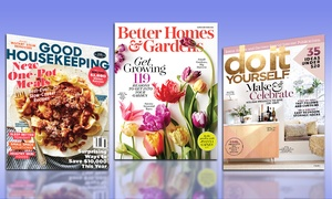 Up to 58% Off Subscription to a Home-Decor Magazine at Better Homes & Gardens, Good Housekeeping, and Do It Yourself Magazines, plus 6.0% Cash Back from Ebates.