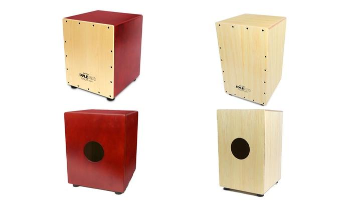 Wooden Cajon Percussion Box Groupon Goods
