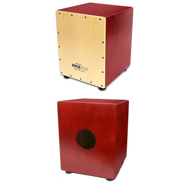 Pyle Wooden Cajon Percussion Box
