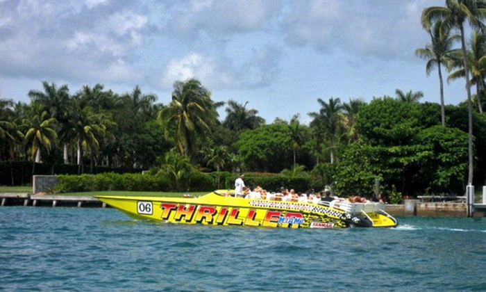 Up to 26% Off Tour from Thriller Miami Speedboat Adventures