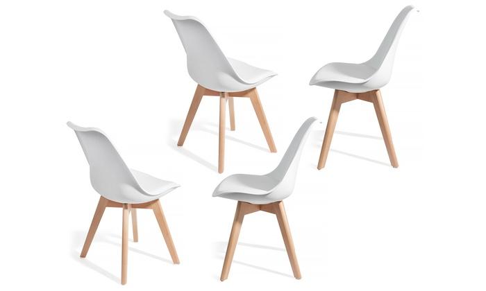 Lot de 2 ou 4 chaises scandinaves Brekka, dès 89,90€ (jusqu'à 75% de réduction)